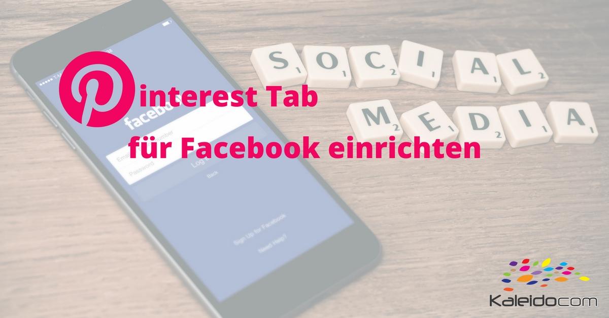 Pinterest Tab für Facebook