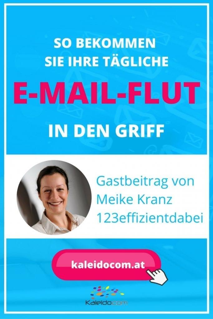 Wird Ihr Postfach täglich mit E-Mails überschwemmt? Büroorganisatorin Maike Kranz gibt Tipps, wie Sie Ihre tägliche E-Mail-Flut in den Griff bekommen.