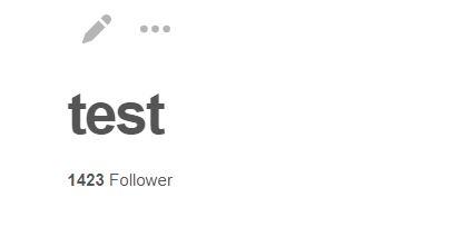 gesamte Followerzahl wird auf dem neuen Board angezeigt