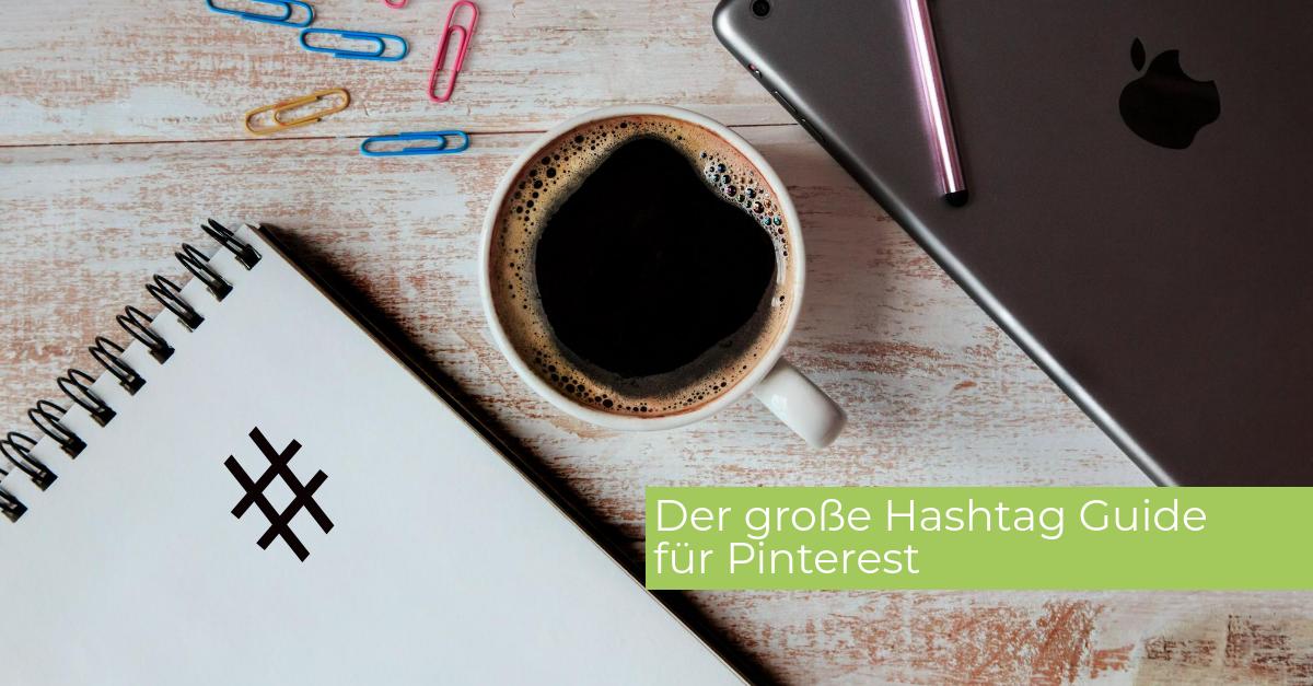 Laptop Schreibblock Hashtag